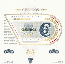 Beer project. Cisneros. A Graphic Design, and Product Design project by javier sanchez         - 05.12.2014