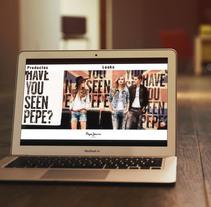 Web | pepe jeans. Um projeto de Design, Design gráfico e Web design de Ashley Claire Studio         - 15.02.2015