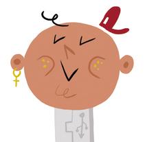 Periódico El País: Ciber País. Un proyecto de Ilustración, Diseño de personajes y Diseño editorial de Del Hambre  - 08-06-2015