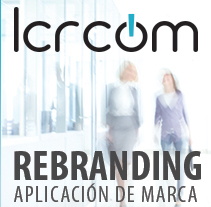 LCRcom - Aplicación nuevo logotipo. Um projeto de Br, ing e Identidade e Design gráfico de Verónica Tapia - 13-06-2015