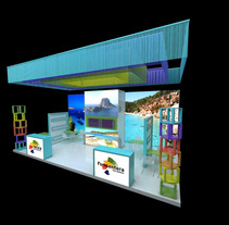 Propuesta Design Stand Ibiza / Formentera Berlin 2014. Um projeto de Design, 3D e Arquitetura de interiores de Carmen San Gabino - 27-06-2015