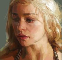 Mother of dragons timelapse. Un proyecto de Ilustración, Cine, vídeo, televisión, Bellas Artes y Pintura de Adrià Llarch         - 28.06.2015