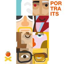 Retratos. Volumen 1. Un proyecto de Ilustración y Diseño gráfico de Salmorejo Studio  - 28-06-2015