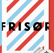 Frisør. A Design, Illustration, Br, ing&Identit project by rafa san emeterio  - 05-07-2015