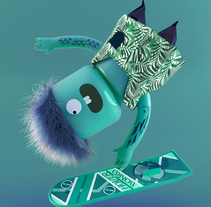Lego Skaters. A Design, Illustration, 3D, Art Direction, and Graphic Design project by Víctor Montes         - 07.07.2015