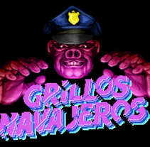 Poster animado de Grillos Navajeros. A Illustration, and Animation project by Imanol Etxeberria         - 07.07.2015