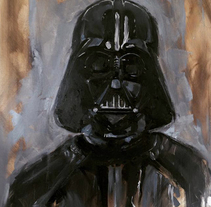 Darth Vader. A Painting project by ismael A.Rodriguez - Jul 16 2015 12:00 AM