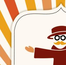 Marca, logo y personaje para San Vintagio. Um projeto de Br, ing e Identidade e Design gráfico de Fabio Marcelo         - 19.07.2015