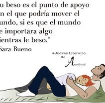 """#Jueves Literario de Amarillo Dalí """"en Honor a Sara Bueno """".. Um projeto de Design, Ilustração, Design gráfico e Design de informação de Nuria Min         - 19.07.2015"""