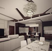Remodelación de apartamentos en Moscow. Render y video 3d. A 3D, Architecture, Interior Architecture, Interior Design, and Post-Production project by Rodrigo martinez ruiz         - 21.07.2015