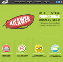 Kicaweb. A Illustration, Br, ing, Identit, Web Design, and Web Development project by Abigail Sánchez Puyó - 29-07-2015