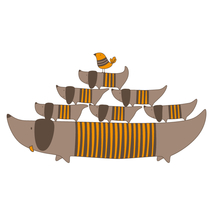 Ilustración para Camiseta infantil / T-shirt for children illustration.. Un proyecto de Ilustración de Sara pdf         - 02.04.2011