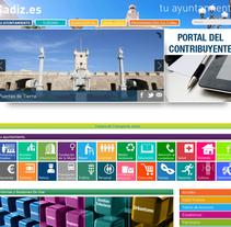 cadiz.es. Um projeto de Web design de Silvia Quintanilla - 03-08-2015