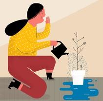 Mariamélia . A Illustration project by ana seixas         - 06.05.2015