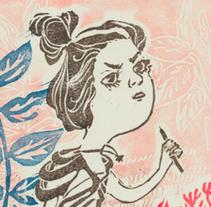 señora con esguince en la muñeca. A Illustration project by jimena ramírez         - 08.08.2015