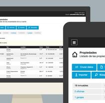 Inmoflex - Interface y programación front-end para una aplicación web de gestión inmobiliariaNuevo proyecto. Un proyecto de UI / UX y Diseño Web de Diego García de Enterría Díaz - 30-08-2015