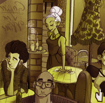 Absenthia cafe. A Illustration project by Salvador Laserna Pla         - 14.05.2015