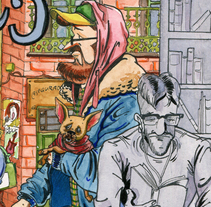 Barrios de Madrid, Malasaña. Un proyecto de Ilustración de Roselino López Ruiz - Domingo, 27 de septiembre de 2015 00:00:00 +0200