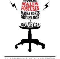 """Línea gráfica """"Prevención de riesgos laborales"""". A Graphic Design project by Ana Avila         - 26.04.2015"""