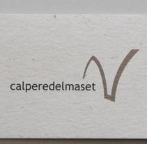 Logo CalPereDelMaset. Um projeto de Br, ing e Identidade e Design gráfico de Ignacio Ballesteros Díaz         - 30.09.2015