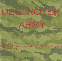 DESTROYER ARMY. A Shoe Design project by Beatriz Torres Carbonell         - 04.10.2015