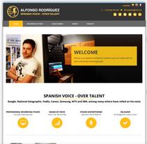 WEB Alfonsospain. Um projeto de Web design de Moisés Escolà Martínez         - 17.10.2014