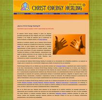 WEB Christ Energy Healing. A Web Design project by Moisés Escolà Martínez         - 17.10.2010