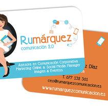 Tarjetas Ru Márquez. Um projeto de Design de Silvia Quintanilla - 21-10-2015