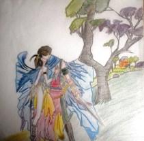 sakura y shaoran. Un proyecto de Ilustración de tatis_rodriguez - 24-10-2015