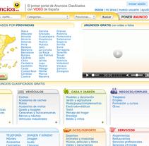 videoanuncios.es. Um projeto de Web design e Desenvolvimento Web de Gema R. Yanguas Almazán         - 09.03.2015
