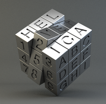 Helvetica rubik. A Game Design, Graphic Design, T, and pograph project by Txaber Mentxaka - 21-11-2015