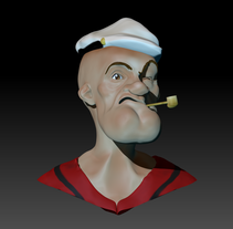 Mi Proyecto del curso Modelado de personajes en 3D. A Illustration, 3D, Character Design, and Sculpture project by Sergio Moral Duque - 24-11-2015