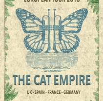 Mi Proyecto del curso Cartelismo ilustrado- The Cat Empire. A Fine Art project by cleco - 01-12-2015