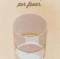 """Cartel """"Un vaso de agua"""". A Graphic Design project by David González Gallego         - 14.12.2015"""
