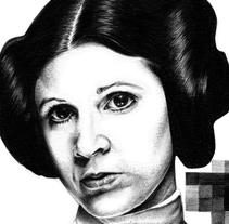 Leia . Un proyecto de Ilustración, Comic y Cine de Joaquín  Rodríguez - 20-12-2015