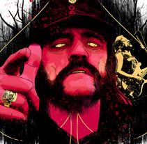 Yorokobu // Rock´n´Draw / Lemmy: born to lose, lived to win. A Illustration, Music, and Audio project by Oscar Giménez - 01.04.2016