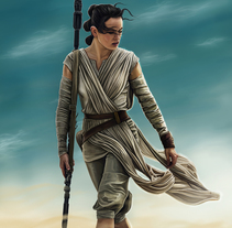 Rey - Star Wars. A Illustration, Painting, and Film project by Jorge M. Hernández Alférez         - 02.01.2016