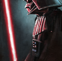 Darth Vader. Digital. A Design, Illustration, Character Design, Fine Art, and Painting project by BORCH         - 06.01.2016