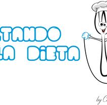 Logotipo Saltando la Dieta. A Graphic Design project by Christian Fernandez Campos         - 27.12.2015