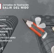 Cartel para las Jornadas de Ilustración de APIM ;). A Illustration, and Graphic Design project by Ana Cristina Martín  Alcrudo - Jan 22 2016 12:00 AM