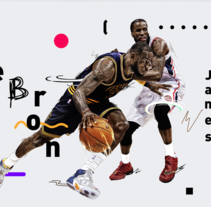 NBA / LeBron James. A Illustration, Art Direction, and Graphic Design project by Adolfo Correa - 22-02-2016
