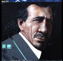 Cantaor. Pintura mural.. A Fine Art project by Carlos Pérez Galán         - 25.02.2015