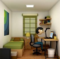 Rooms. Un proyecto de Ilustración y 3D de Víctor Ballester Granell - 28-02-2016