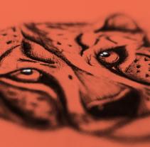 Cheetah - 2016. A Illustration project by Valentina Pefaur         - 07.03.2016