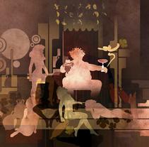 Cuadro para exposción de Vinos 2003 Baco. Un proyecto de Ilustración de kiko hiraldo         - 14.11.2006