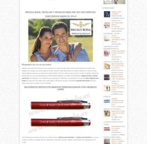 Diseño web y SEO para Regalo Boda. A Web Design project by Posicionamiento web Barcelona         - 13.03.2016