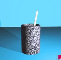 Lapicero de granito, para Grupo La Hoja. A Design, and 3D project by María Bravo Guisado         - 13.03.2016