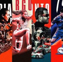 Orgullo Colombiano Posters Serie 1 - Deportistas. Un proyecto de Diseño y Diseño gráfico de David Espinosa - 14-03-2016