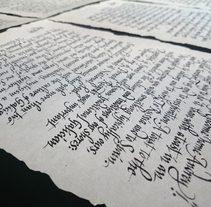 Welcome letters Ruavieja. Un proyecto de Br, ing e Identidad y Caligrafía de Victor Kams - 17.03.2016
