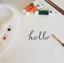 Hello. A Calligraph project by Noemi Barro Campos - 25-03-2016